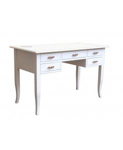 bureau, bureau blanc, bureau 5 tiroirs, bureau 130 cm, bureau 150 cm
