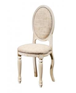 petite chaise ovale, chaise avec dossier ovale, chaise ne bois massif, acheter chaise de style