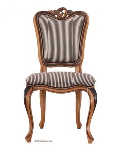 chaise sinueuse, chaise en bois, tissu de qualité, chaise fabrication italienne