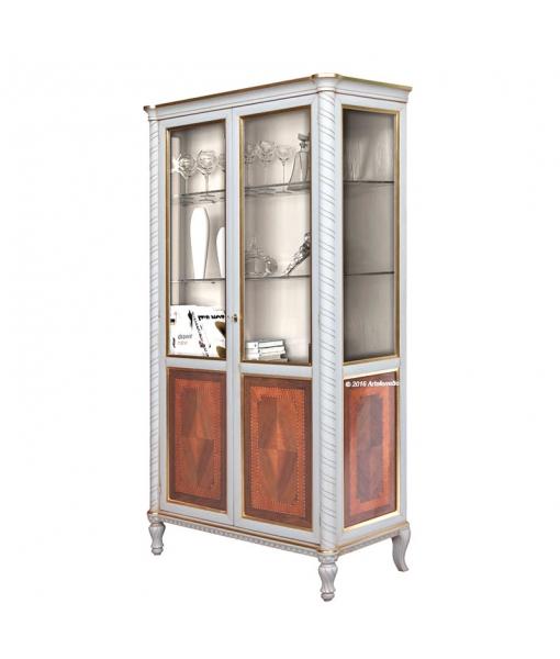 vitrine en bois et verre quot white gold quot lamaisonplus