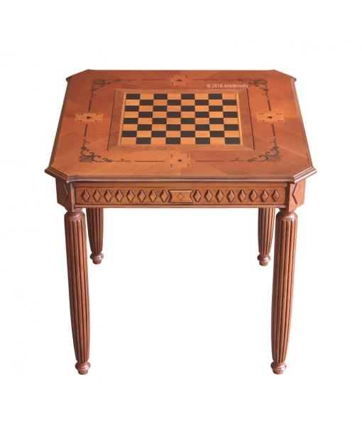 Table de jeux marquetée réf. ER-B42