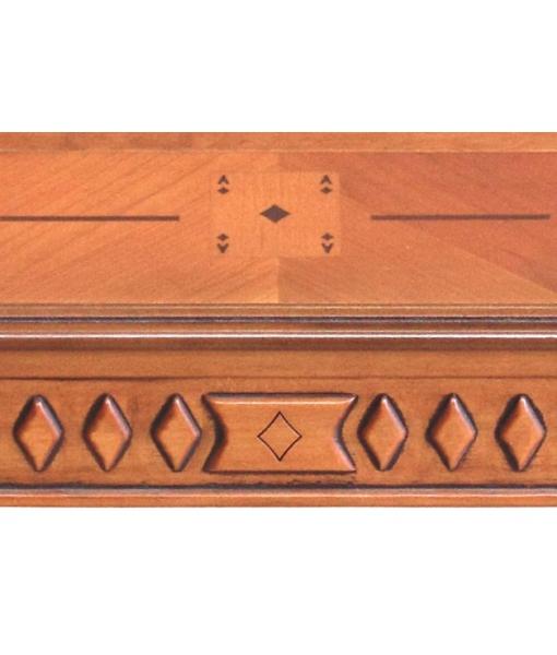 Table de jeux marquetée, table de jeux en bois, table de salon