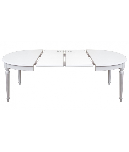 Table ovale extensible style louis xvi lamaisonplus for Table ovale extensible bois