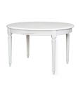 Table ovale extensible, table de cuisine en bois, table blanche