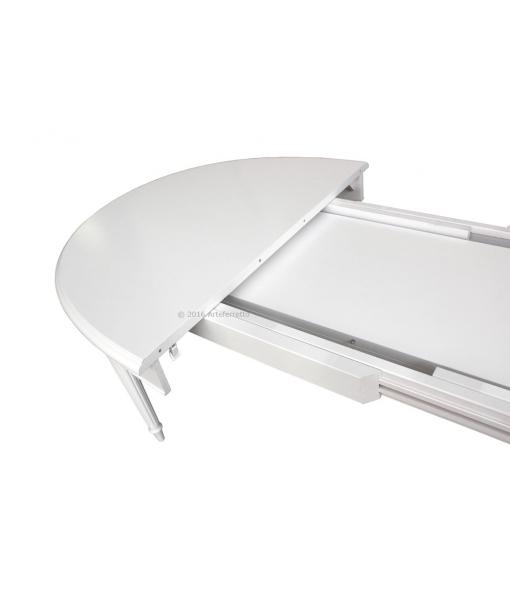 Table ovale extensible, table salle à manger classique, table avec rallonge