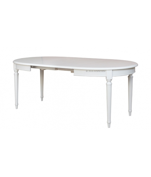 Table ovale extensible style louis xvi lamaisonplus for Table cuisine bois blanc