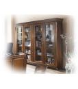 bibliothèque murale, bibliothèque 4 portes, meuble bibliothèque en bois, bibliothèque classique pour le salon