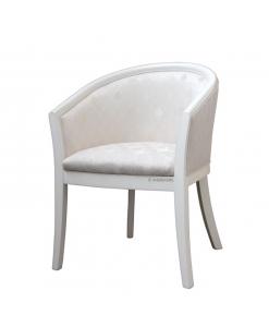 Fauteuil classique, fauteuil blanc, fauteuil rembourré