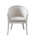Fauteuil, fauteuil classique, fauteuil laqué blanc