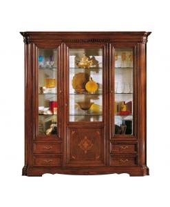 vitrine argentier, meuble vitrine, vitrine classique, mobilier salon classique, achat vitrine en bois