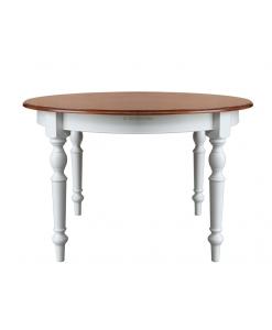 Table à manger ronde bicolore, Table à manger, table ronde