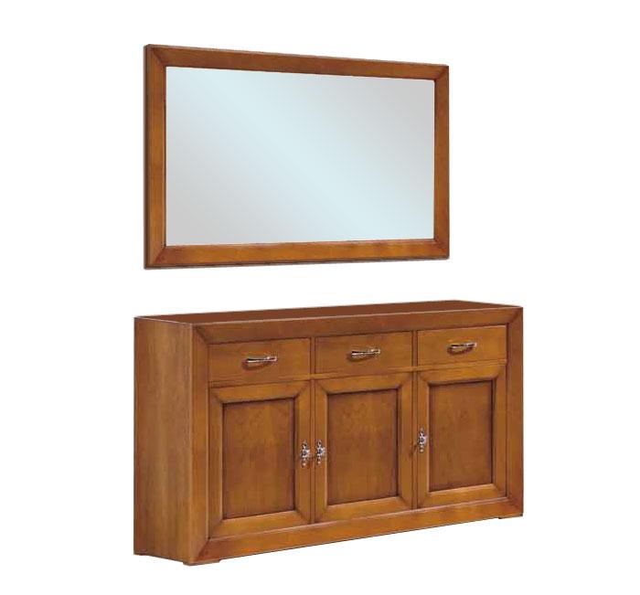 buffet enfilade buffet et miroir miroir cadre en bois - Buffet En Enfilade