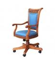 Chaise tournante en bois pour bureau ou cabinet