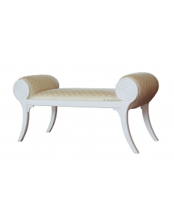 banquette bout de lit, banquette bois massif, petit banc rembourrée, banquette d'appoint, banquette chambre à coucher, bout de lit
