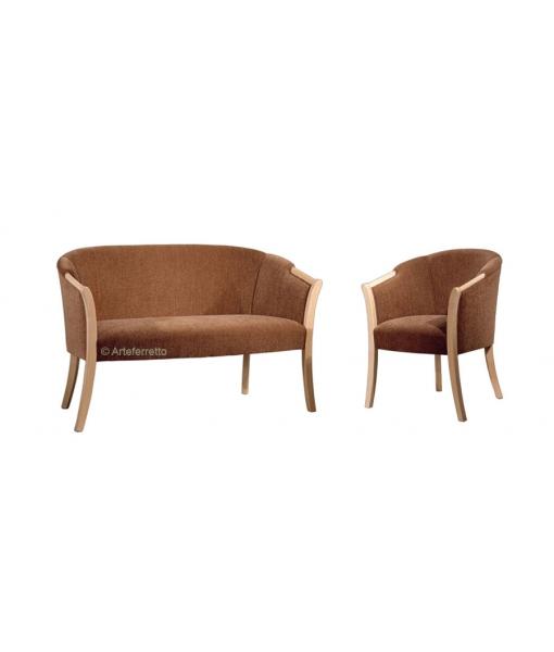 Ensemble canapé et fauteuil classiques
