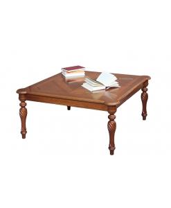 Table basse carrée en bois marqueté