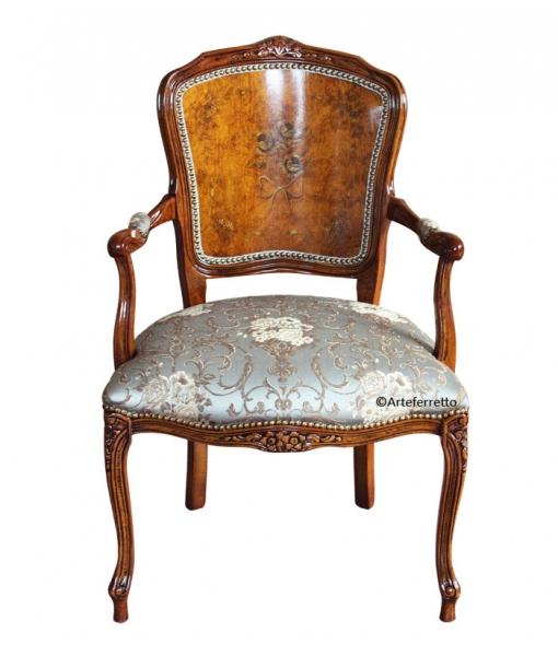Fauteuil classique peint à la main, salon, style classique, mobilier de salon, achat fauteuil