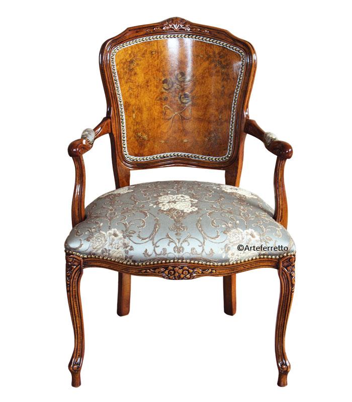 fauteuil classique peint la main lamaisonplus. Black Bedroom Furniture Sets. Home Design Ideas