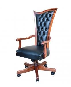 fauteuil bureau en bois, fauteuil tournant, chaise réglable pour bureau