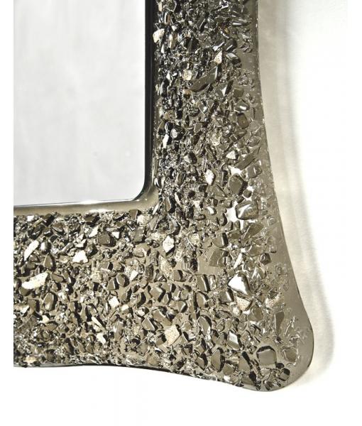 Détail miroir cadre en verre réf. E-C273
