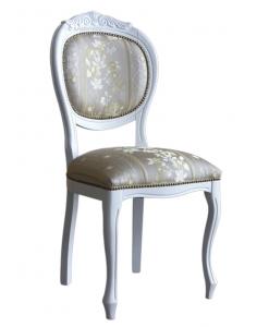 Chaise rembourrée blanche