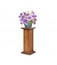 Porte-plante ou pied d'enceinte en bois, Arteferretto