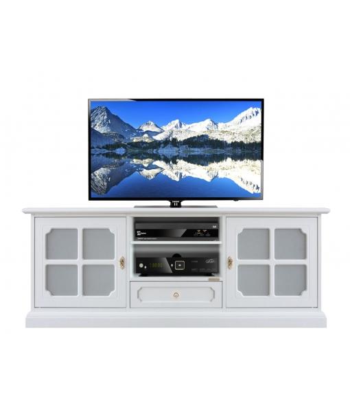 Meuble banc tv bois laqué réf. 3159-LUX