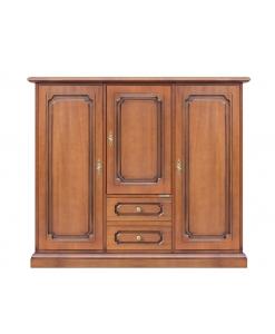 Buffet de rangement multifonction, buffet bahut, meuble classique pour rangement, rangement salon, meuble buffet 3 portes