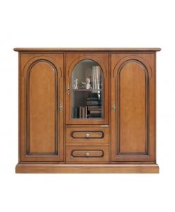 Buffet vaisselier style classique, bahut, meuble buffet, bahut rangement en bois, mobilier de style classique, aménagement salon