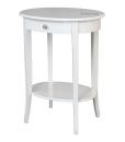 Table de salon haute avec tiroir, guéridon blanc, petite table d'appoint