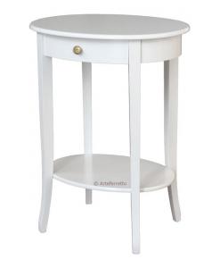 Table de salon haute avec tiroir, table bout de canapé, table guéridon