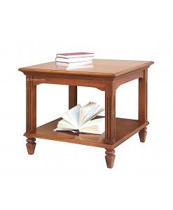 Table basse de salon pieds cannelés, table carrée de salon, table basse style classique, mobilier pour salon