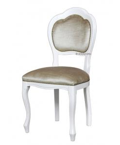 Chaise classique 3 arcs, chaise laquée blanche, achat chaise, chaise bois massif
