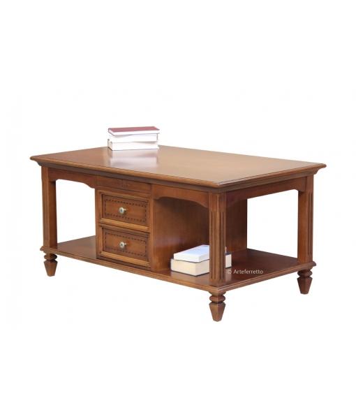 Table de salon rectangulaire avec range magazine lamaisonplus - Table de salon rectangulaire ...