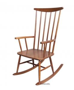Chaise à bascule en bois