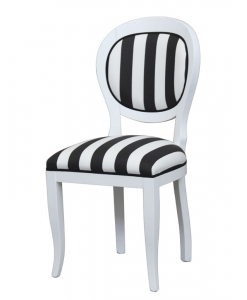 Chaise design Black&White, chaise médaillon, chaise médaillon noir et blanc