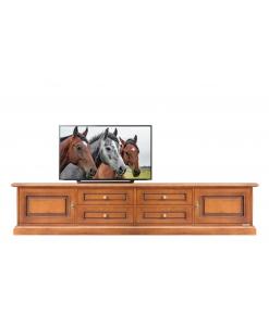 Meuble banc TV bas, meuble télé, achat meuble tv pour salon, meuble tv bois