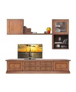 Composition murale TV, meuble tv mural, meuble tv pour écran plat, achat meuble tv en bois