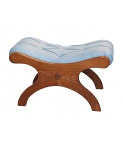 Tabouret repose-pieds, tabouret bas pour fauteuil, tabouret en bois style classique
