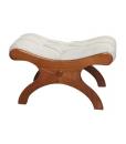 Tabouret repose-pieds, achat tabouret classique, tabouret en bois, simili cuir, meubles style classique, mobilier italien