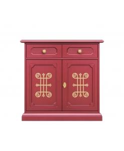 Bahut de rangement Rubis, buffet, bahut, meuble buffet de rangement, rouge rubis, achat meuble buffet de rangement