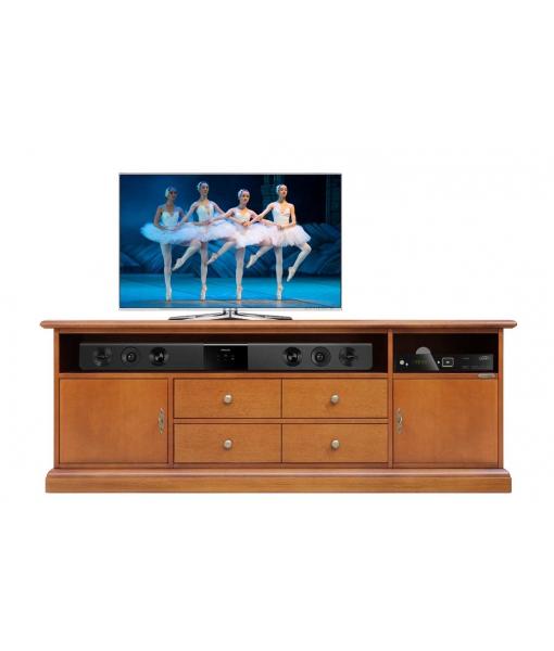 Meuble TV optimisé pour la barre de son. Réf: SB-160-1