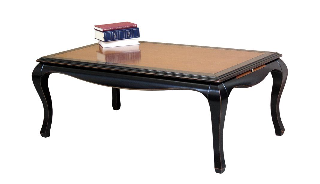 Table basse bicolore avec tirettes lat rales lamaisonplus - Table basse bicolore ...