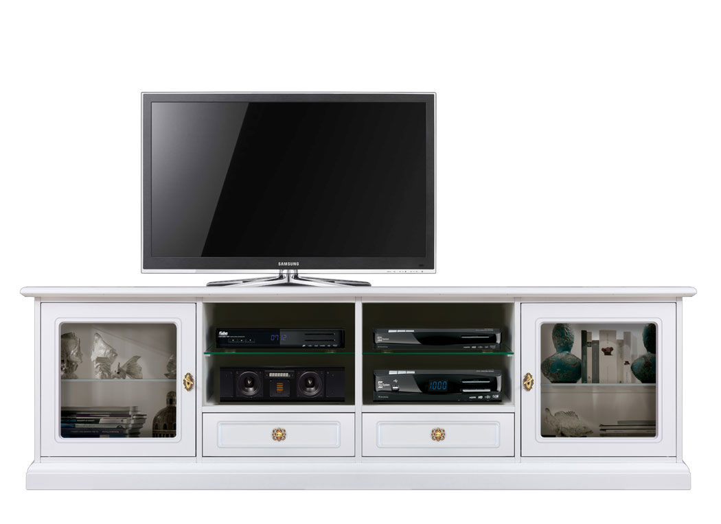 meuble banc tv 200 cm lamaisonplus. Black Bedroom Furniture Sets. Home Design Ideas