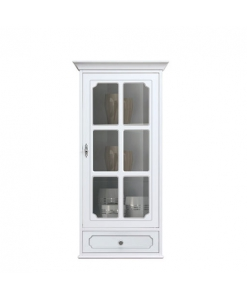 Vitrine murale avec tiroir, étagère vitrine, range épices, vitrine blanche pour cuisine