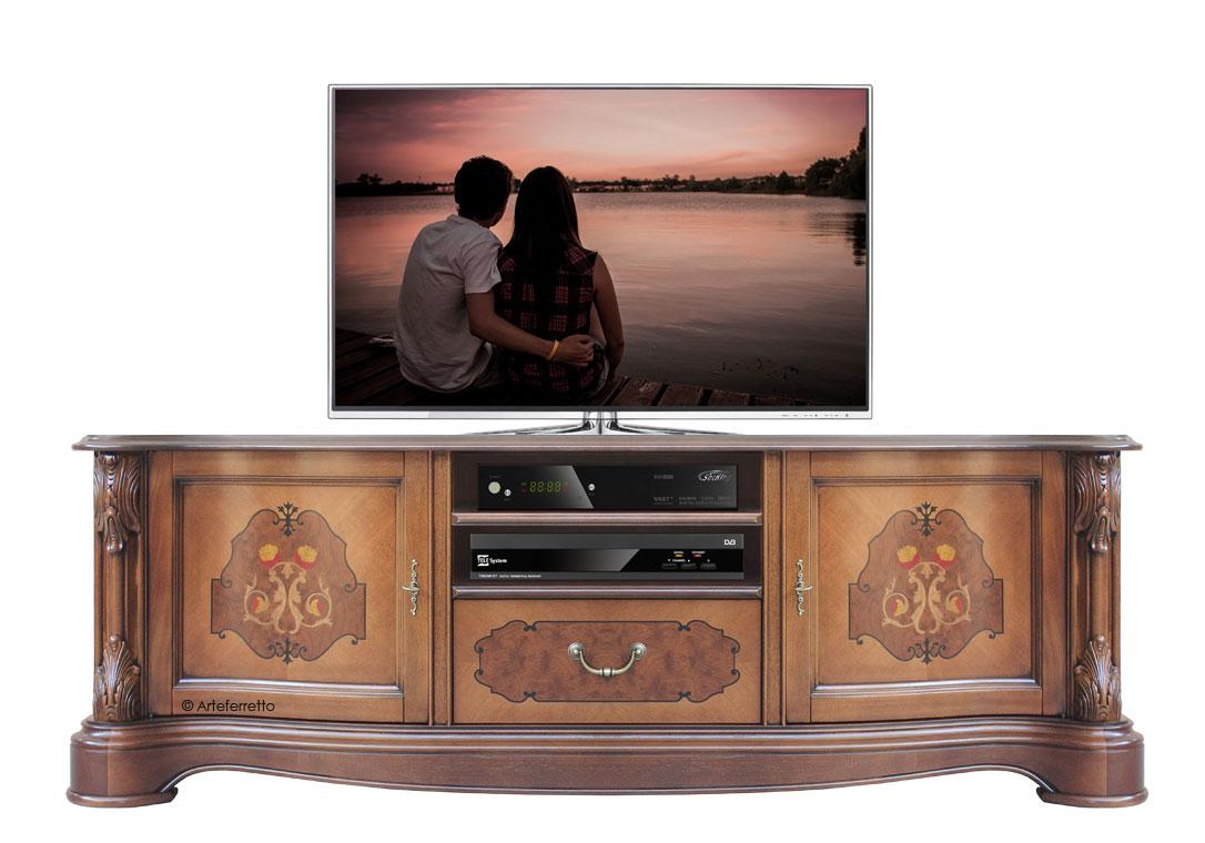 Meuble Tv Classique L Gant Lamaisonplus # Meuble Tele Bas Merisier