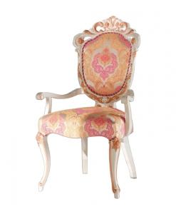 Chaise sculptée avec accoudoirs, chaise en bois, achat chaise classique, siège haut de gamme, mobilier classique italien