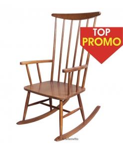 Chaise basculante bois
