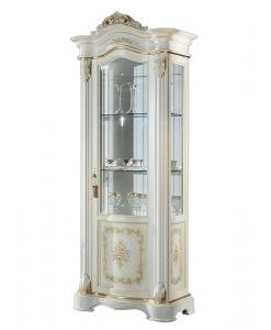 Vitrine classique décor floral, vitrine classique, vitrine style classique, meubles haut de gamme, vitrine élégante, style classique, mobilier made in italy