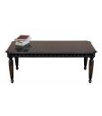 Table basse rectangulaire laquée noir vieilli